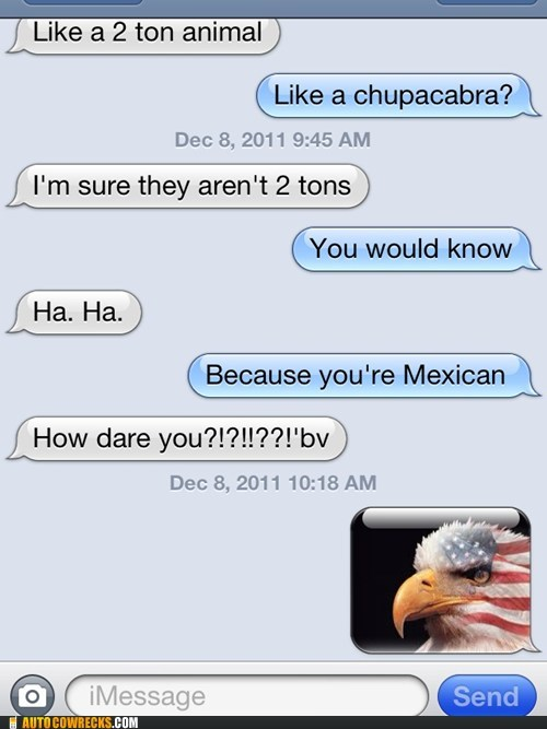 america,american,animals,bald eagle,chupacabra,eagle,Mexican