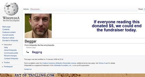 beggar fundraiser wiki appeal wikipedia