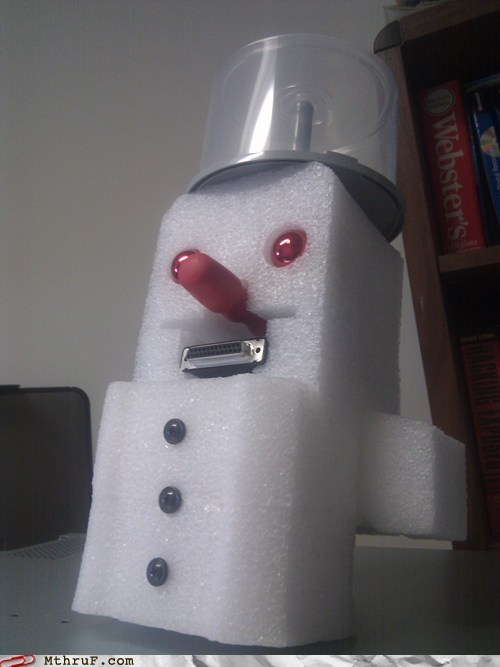 christmas,festive server snow man,styrofoam