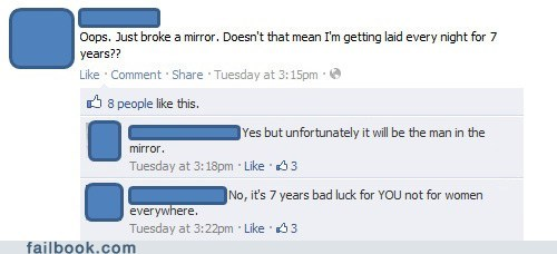 bad luck mirror oh snap your friends are laughing at you - 5599934720