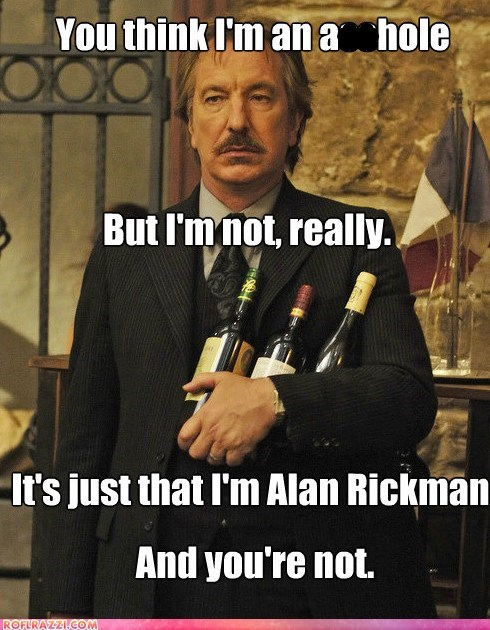 actor Alan Rickman celeb funny Hall of Fame - 5600054784