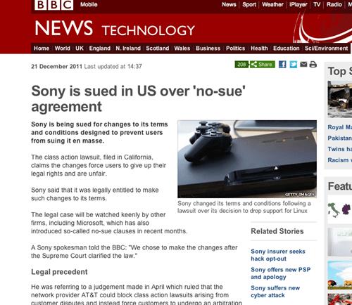 irony lol Probably bad News Sony