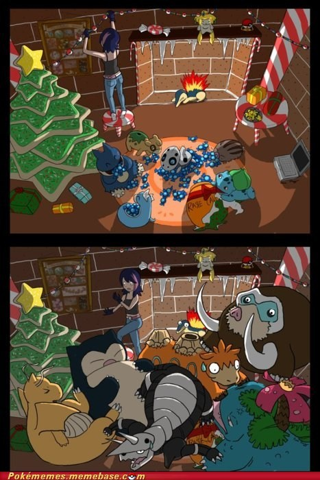art,awesome,best of week,comic,cyndaquil christmas,Evolve,rare candy
