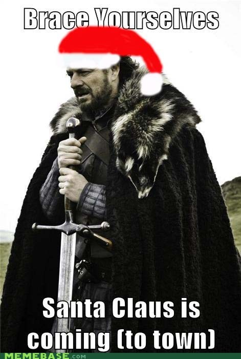 Game of Thrones,santa,Winter Is Coming