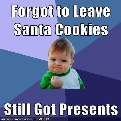 cookies,presents,santa,success kid