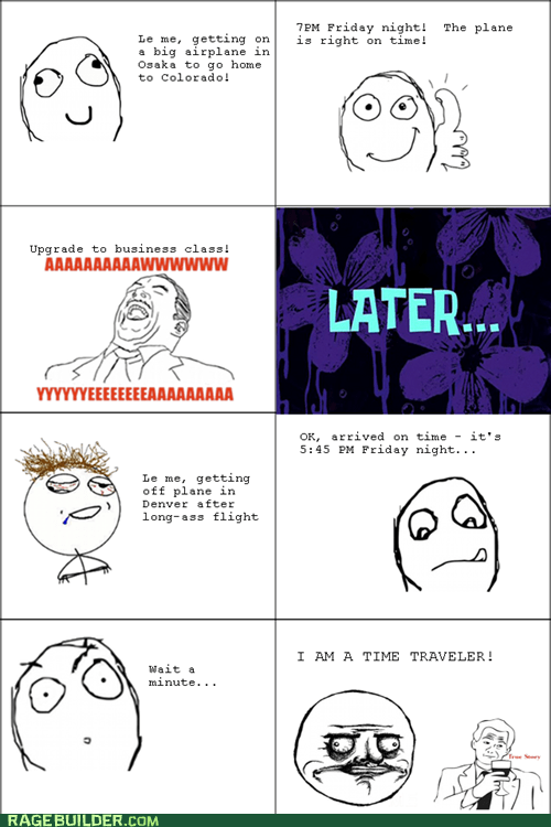 challenge completed,plane,Rage Comics,time travel