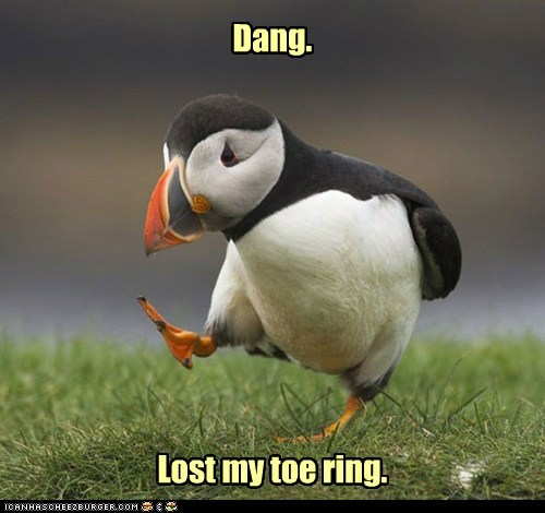 animals bird bummer puffin toe ring - 5600459008