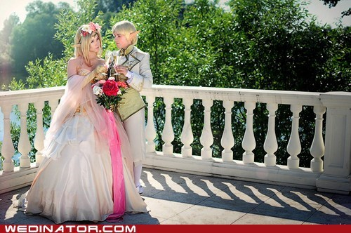 anime cosplay final fantasy funny wedding photos geek macross manga wedding zelda - 5600478720