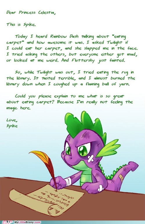 letter meme princess celestia rainbow dash spike - 5600569088