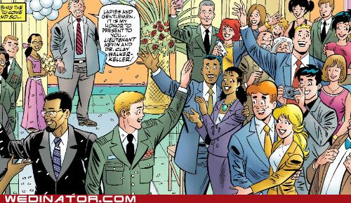 Archie Comics,comics books,funny wedding photos,gay wedding,geek