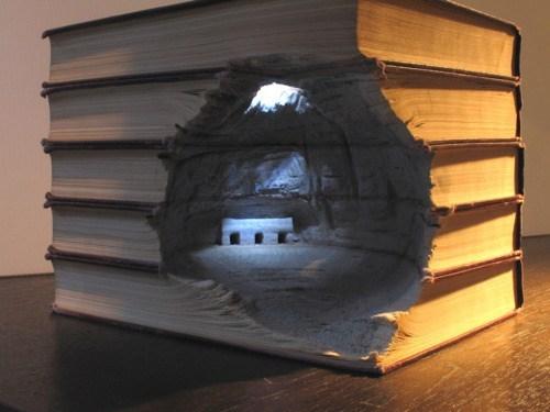 Book Sculptures,Guy Laramée,Kickass Artwork