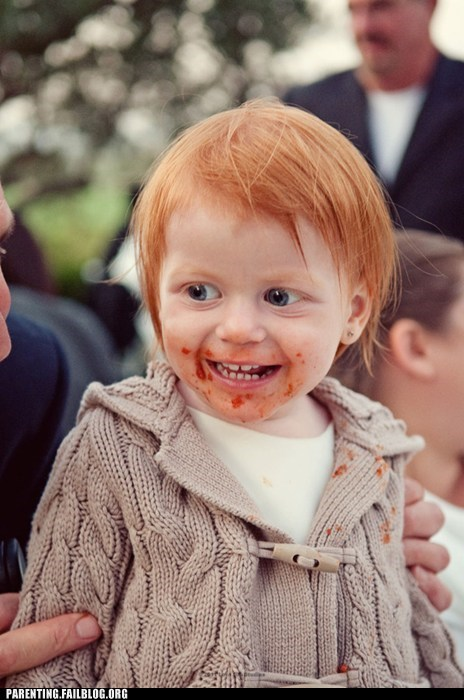 baby cannibalism creepy smile ginger Parenting Fail redhead scary - 5600921344