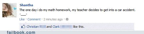 accident homework math selfish teacher - 5600923136