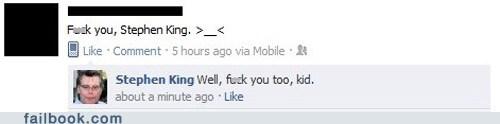 f you facebook failbook Featured Fail oh snap social media stephen king - 5600953856