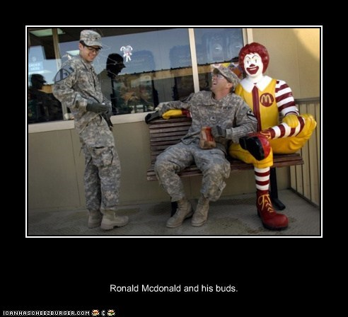 Ronald Mcdonald and his buds.