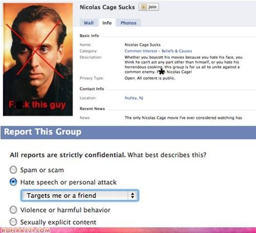 actor celeb facebook funny nicolas cage - 5601212928