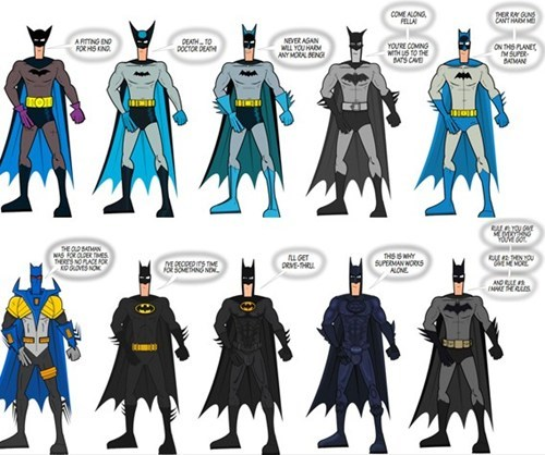 batman batsuit benjamin moore comics Fan Art history infographic superheroes - 5601255424