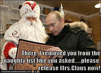 christmas political picturs santa Vladimir Putin - 5601377280