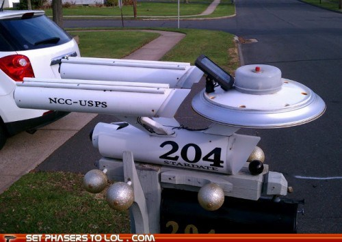 awesome,enterprise,mailbox,Star Trek,starship