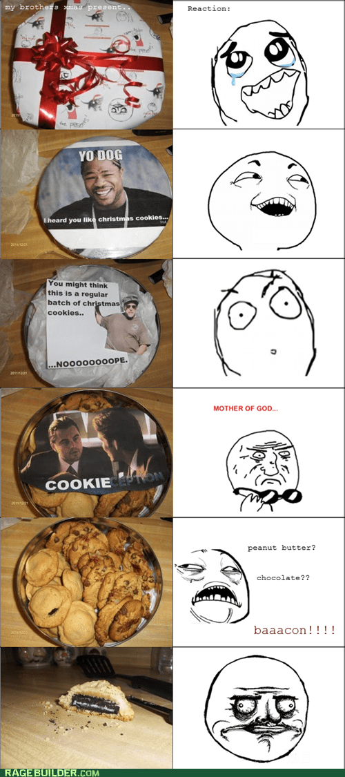christmas,cookies,I see what you did there,Inception,noms,present,Rage Comics,yo dawg