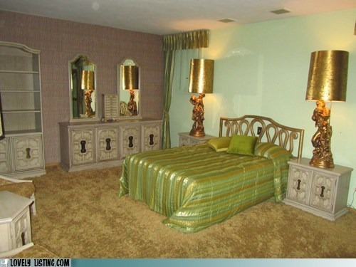 bedroom gold green - 5601768960