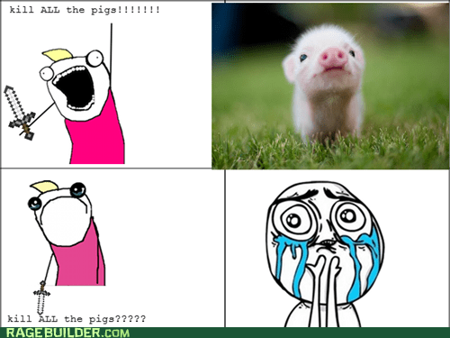 all the things,cuteness overload,pig,Rage Comics