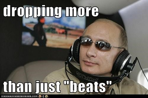 dropping beats headphones political politics Pundit Kitchen russia russian sunglasses Vladimir Putin