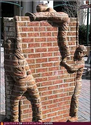 brick chameleon human wall wtf - 5602767616
