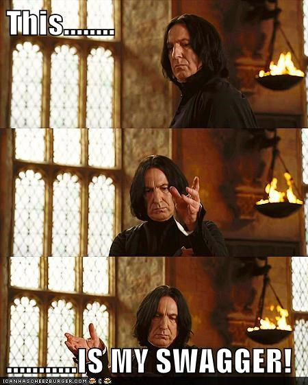 Alan Rickman Harry Potter professor snape swag swagger - 5602895616