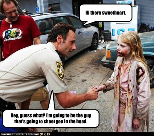 Andrew Lincoln Rick Grimes shoot sweetheart that awkward moment The Walking Dead zombie - 5603086080