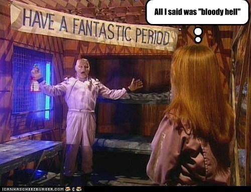 bloody hell,chloe annett,kristine kochanski,kryten,period,red dwarf