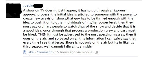bad tv,facebook,failbook,g rated,jersey shore,television