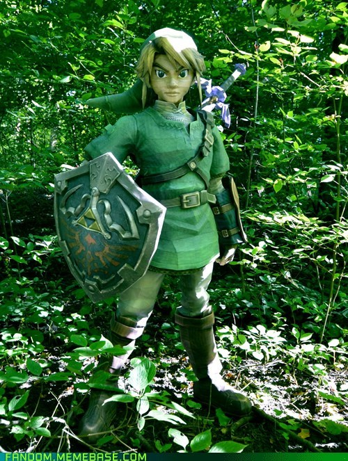 best of week,Fan Art,legend of zelda,link,paper