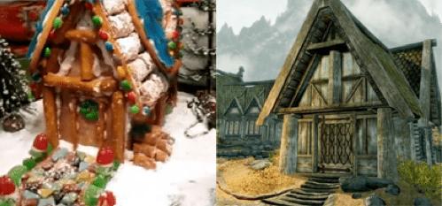 breezehome christmas DIY Fan Art frostystarcraft gingerbread house Skyrim video games vids - 5604133888