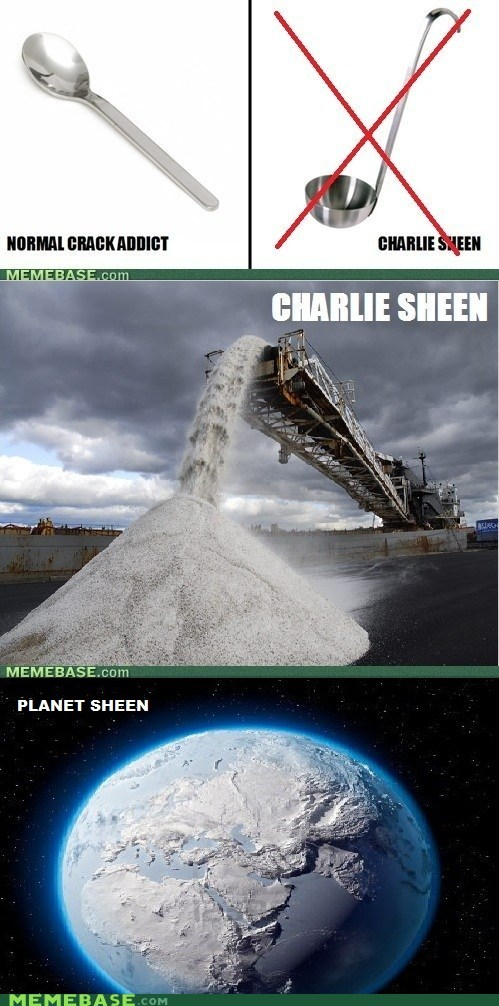 Charlie Sheen Memes planet spoon - 5604158208