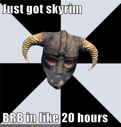brb Memes Skyrim video game video games - 5604184832