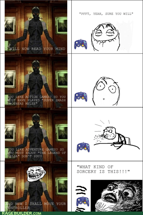 gamecube,metal gear solid,psychomantis,Rage Comics,raisin face