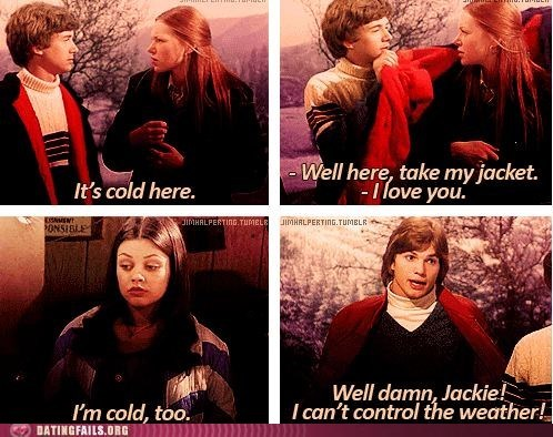 ashton kutcher,aww,boyfriend,cold,jacket,love,that 70s show