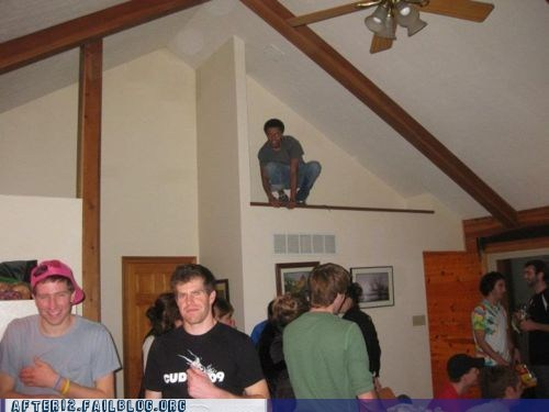 alcohol,booze,ceiling,freaking out,gargoyle,reaction