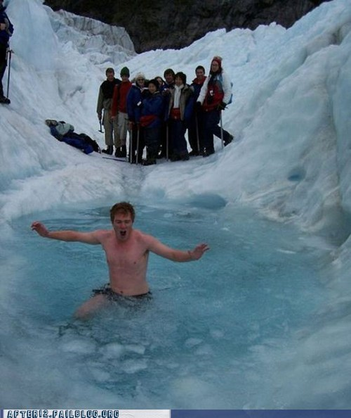 after 12,bad idea,Challenge Accepted,drunk,freezing,g rated,ice,polar bear,skinny dip,winter