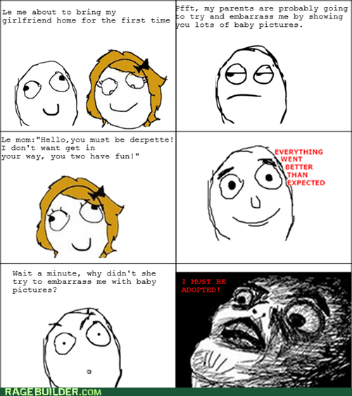 adopted,everything went better than expected,gf,mom,Rage Comics,raisin face