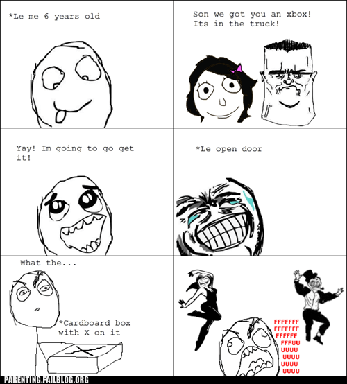christmas Parenting Fail present rage comic Troll Parents xbox