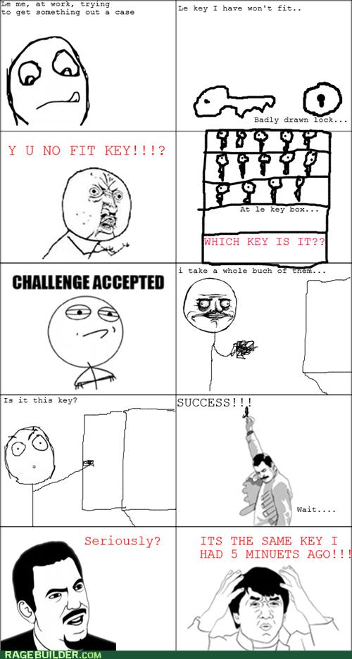 Challenge Accepted key Rage Comics Y U NO - 5605030912