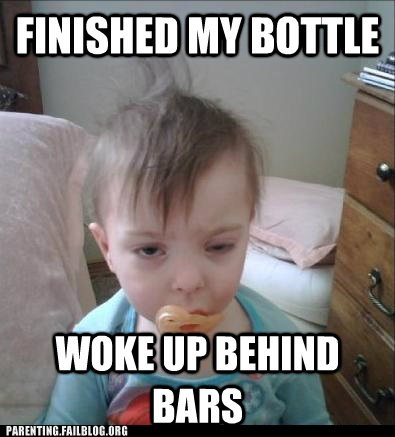alcohol baby derp drunk Hall of Fame morning after Parenting Fail toddler - 5605127936