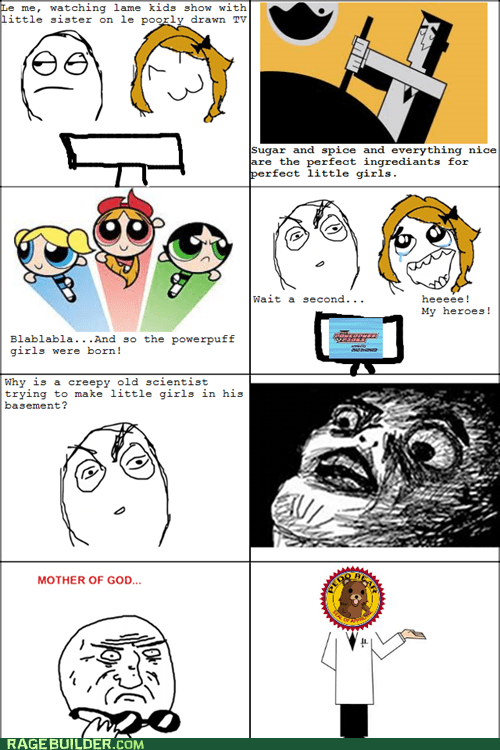 cartoons,pedobear,powerpuff girls,Rage Comics,raisin face