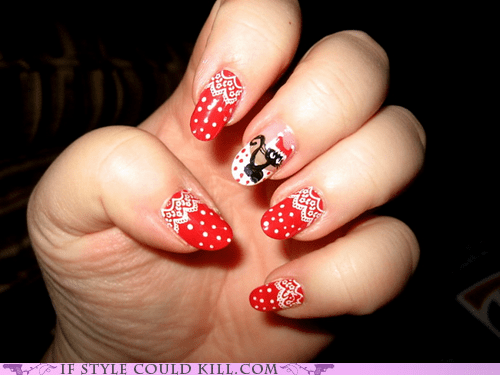 Cats,christmas,cool accessories,nail art