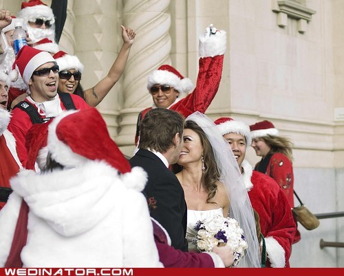 christmas funny wedding photos jingle bells - 5605569792