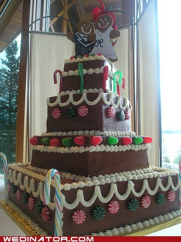 christmas funny wedding photos wedding cakes - 5605679616