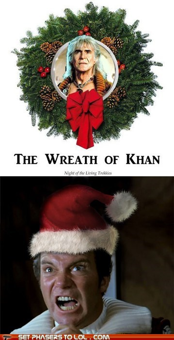 best of the week,Captain Kirk,christmas,Kahn,Shatnerday,William Shatner,wreath
