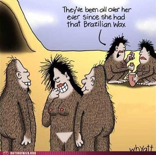 bikini line brazilian wax Caveman comic - 5605950208